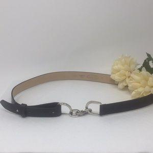 Women's Black Leather Talbots Belt